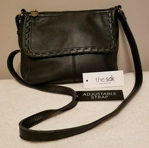 The Sak Margarita Black 100% Leather Crossbody Bag